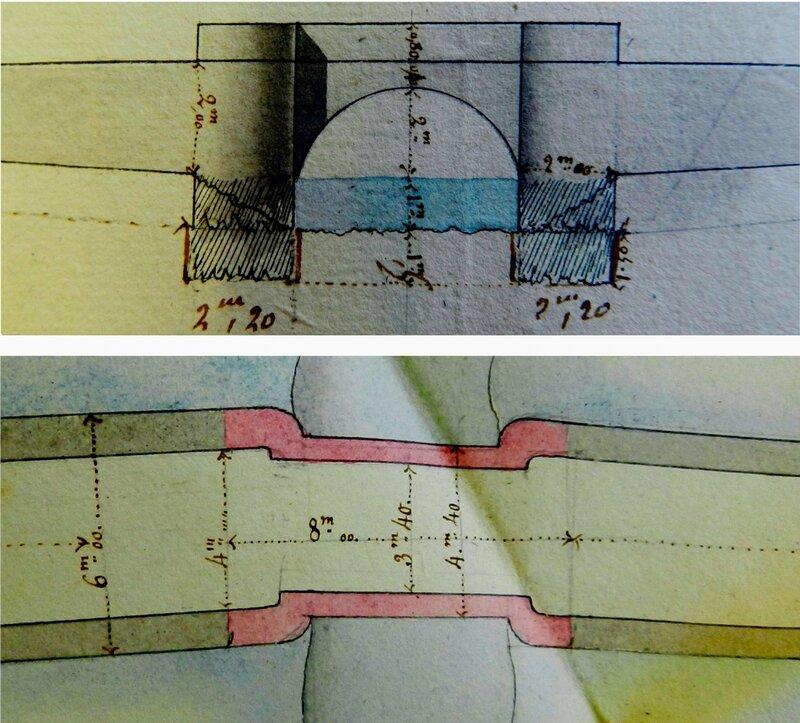 Ch26 - Plan de 1831 du pont en pierre du Loch