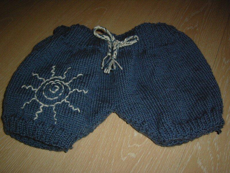 Shorty de protection en 100% pure laine ( doublé pour la nuit! ) le devant