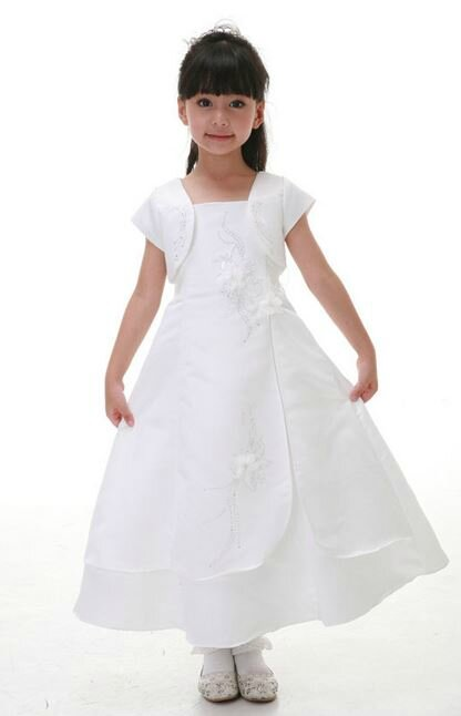 "Robe fillette ""Althéa"" 2 ans blanche"
