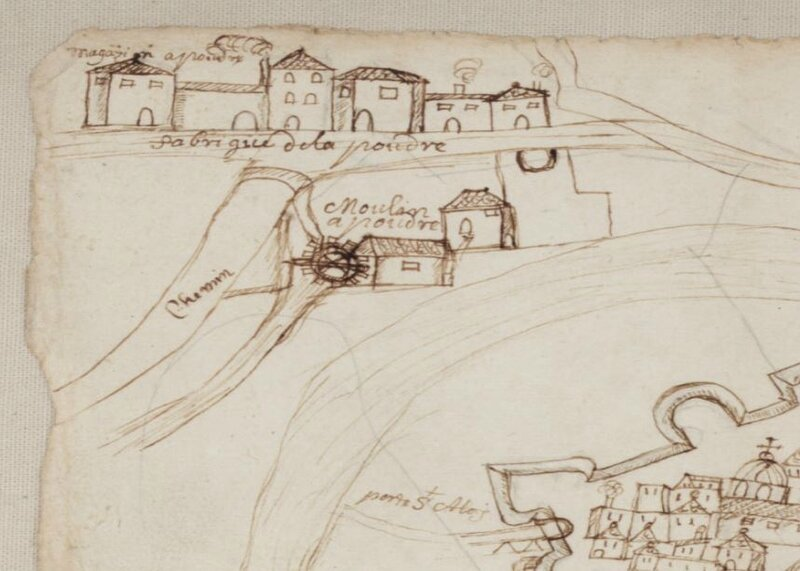 Quartier de la Poudrière au XVIIème