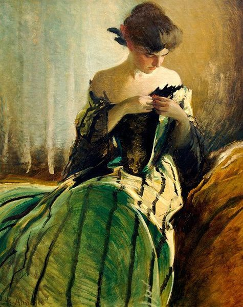 John White Alexander Study in black and green 1906