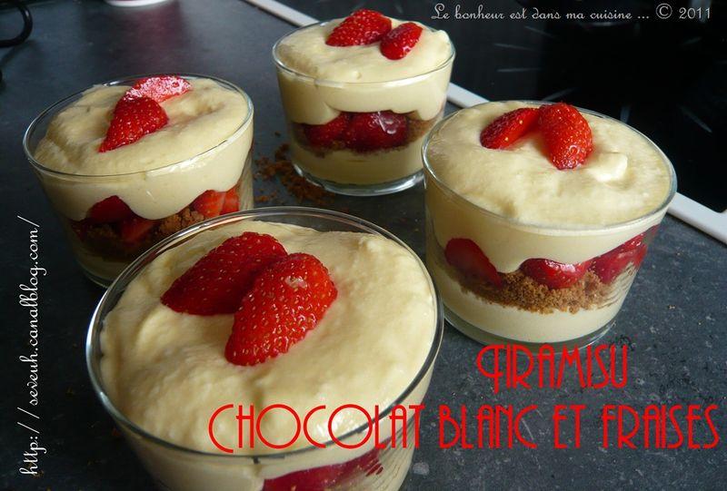 tiramisu chocolat blanc et fraises le bonheur est dans ma cuisine. Black Bedroom Furniture Sets. Home Design Ideas