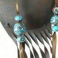 Turquoise-chocolat détail