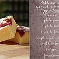 Gâteau au yaourt au citron et framboises