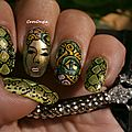 Nail art serpent -médusa