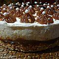 Cheesecake à la crème de marrons et à la vanille