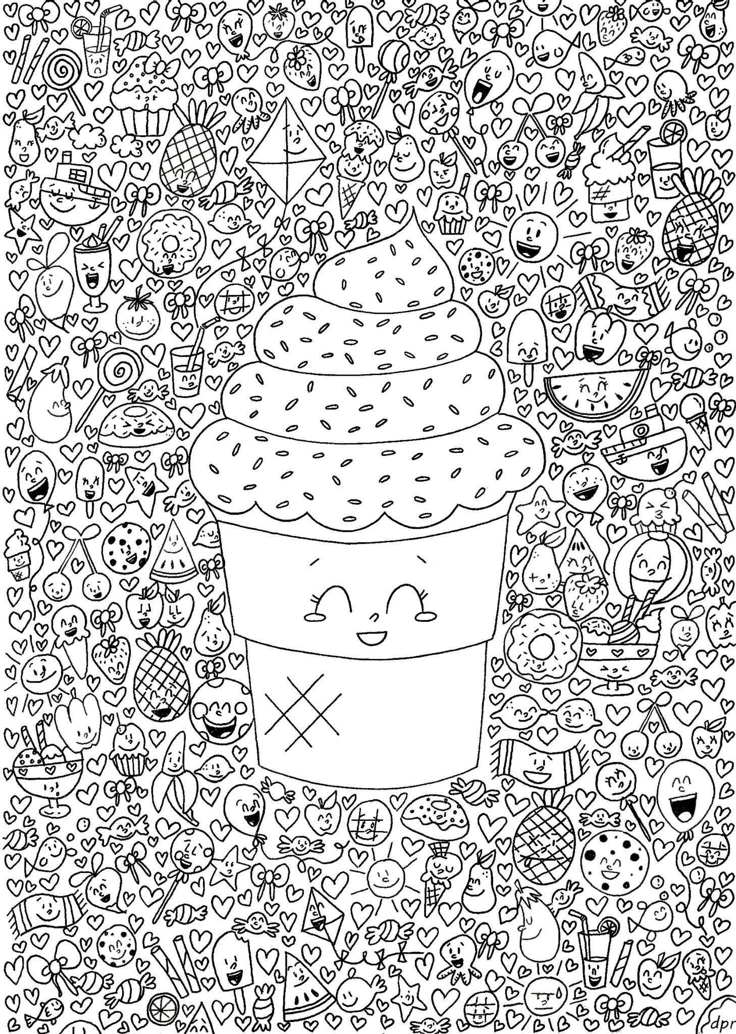coloriage kawaii