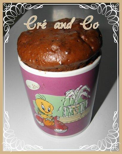 Mug cake au chocolat