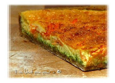 quiche saumon pesto roquette