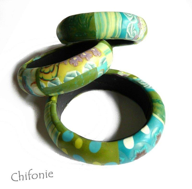 bracelets vert turquoise 2