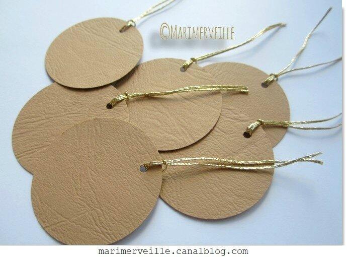 Boules de papier cuir chamois chic - marimerveille