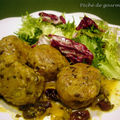 Boulettes de viande hache  l'chalote et raisins secs d'aprs Babette de Rozires