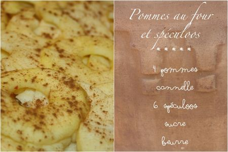 Pomme four speculoos