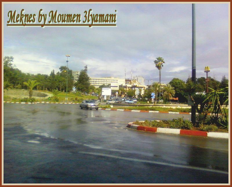 Place l'Agora vers Ville nouvelle Meknes