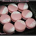 Macaron au biscuit rose de reims et à la rose