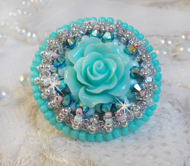 Bague Amandine Blue Flowers 0-1