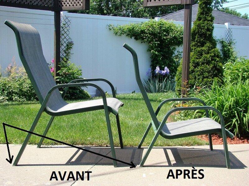 chaise patio à chaise plage