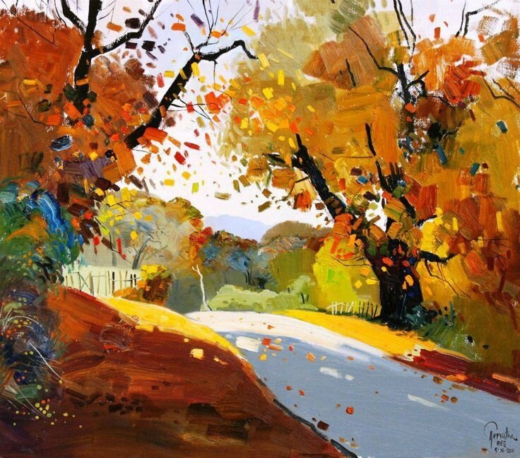 pashk pervathi-trees-abstract-landscape