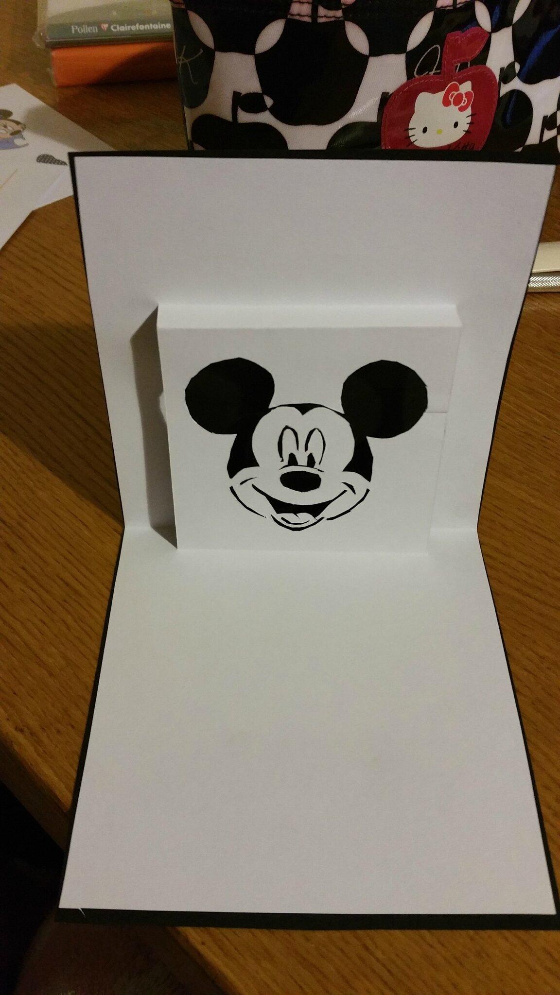 Kirigami Mickey