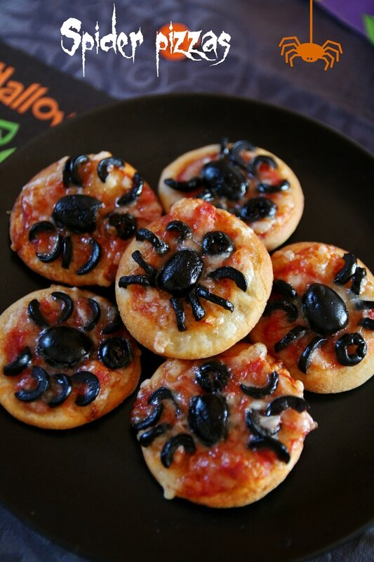 spider pizzas