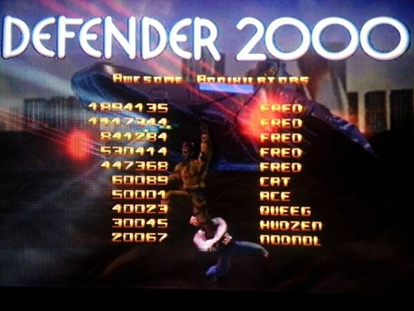 Highscore Defender 2000