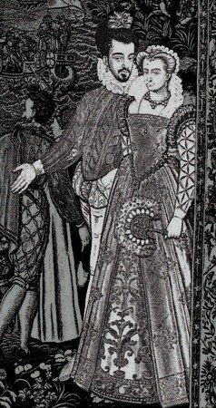 Henri III et Louise de Lorraine, extrait de la tapisserie des Valois 2