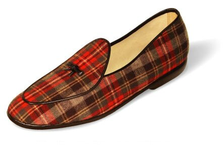 grayPlaid-black from belgian loafer