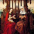 1517 Ambrosius BENSON : La Vierge et Ste Anne pour le couvent Dominicain de Ségovie