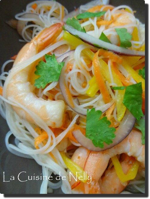 Vermicelle aux Crevettes et Légumes