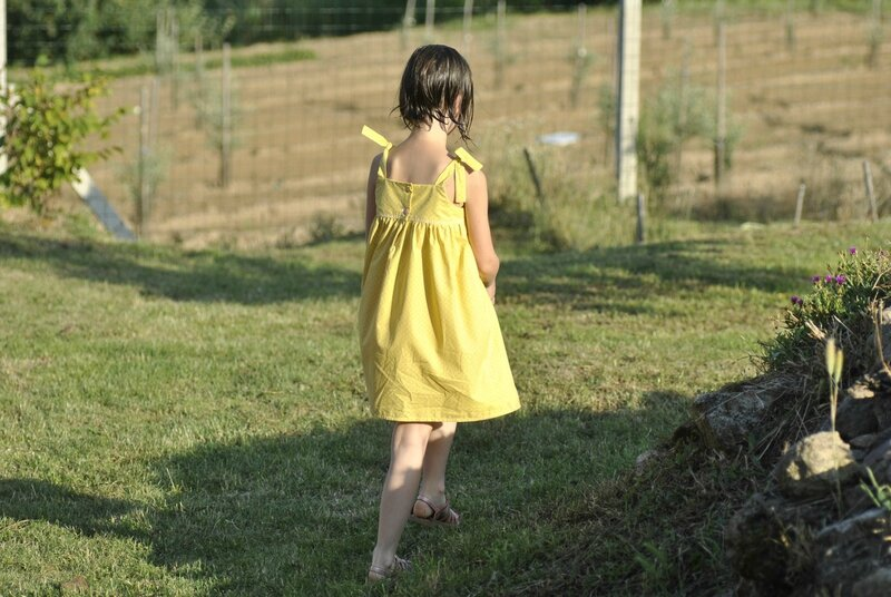robe rose jaune 4