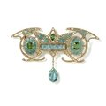 Art nouveau aquamarine brooch by georges fouquet, paris