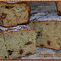Cake banane-rhum-raisins