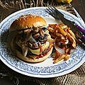 Burger raclette et champignons