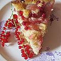 Gâteau pêche groseille