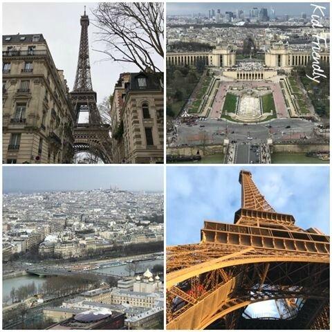 Au sommet de la Tour Eiffel ©Kid Friendly