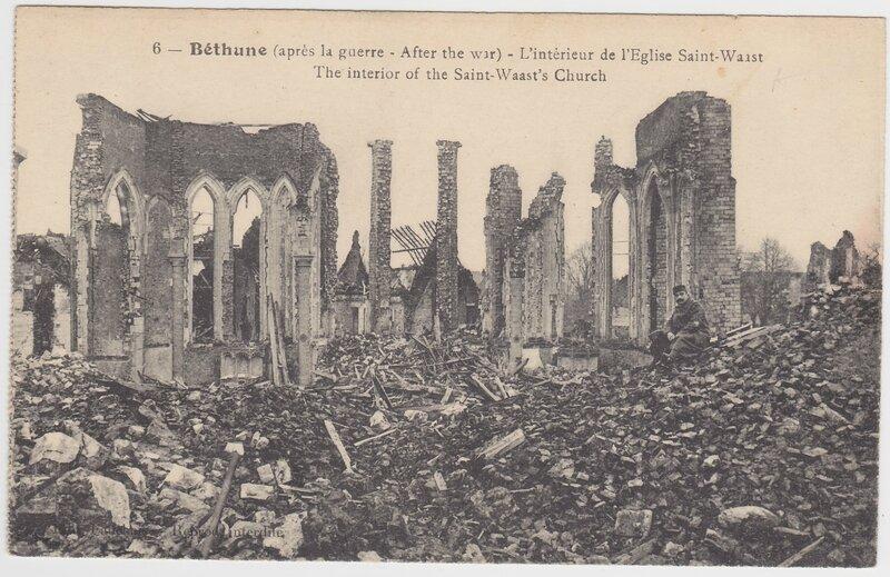 Bethune, après Guerre, Intérieur de l Eglise Saint Waast