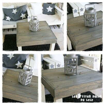 Diy r cup customiser une table basse les p 39 tites d cos de lolo - Customiser une table basse en bois ...
