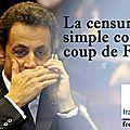 Sarkozy fait censurer envoyé spécial qui traitait de l'affaire bygmalion
