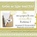Atelier mini album en ligne-forum 4enscrap