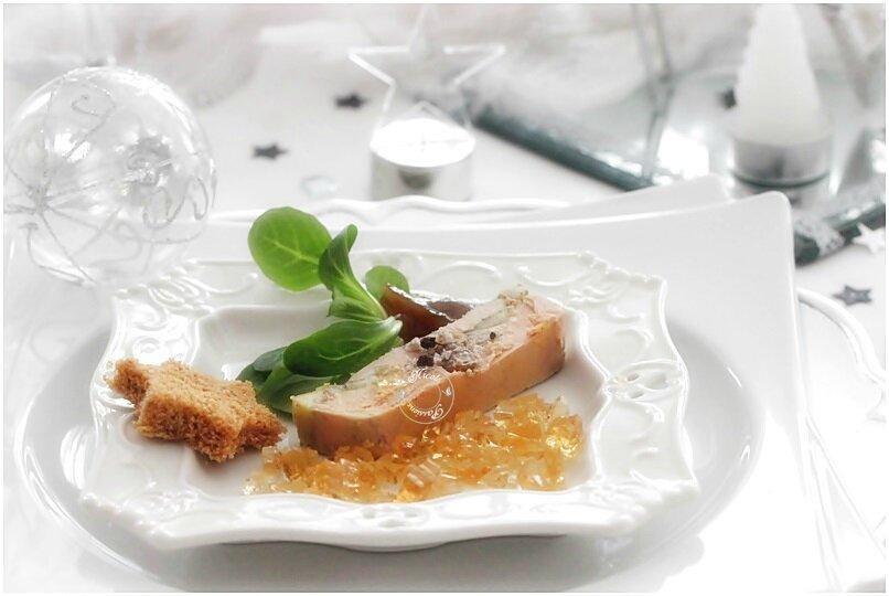 Mon foie gras aux pommes noix et raisins........