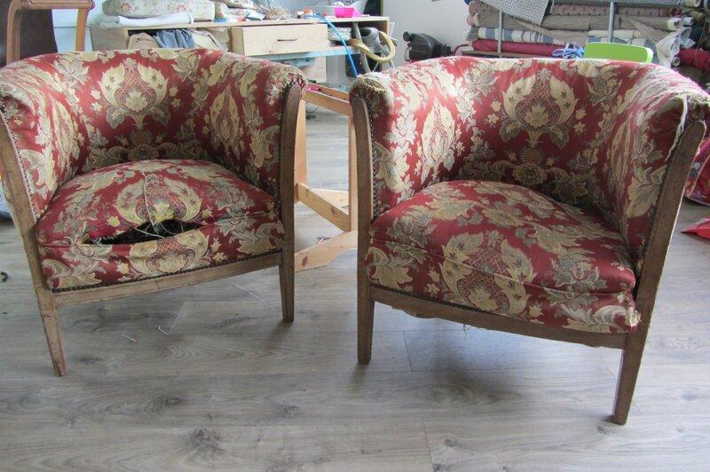 fauteuils tonneaux à retapisser