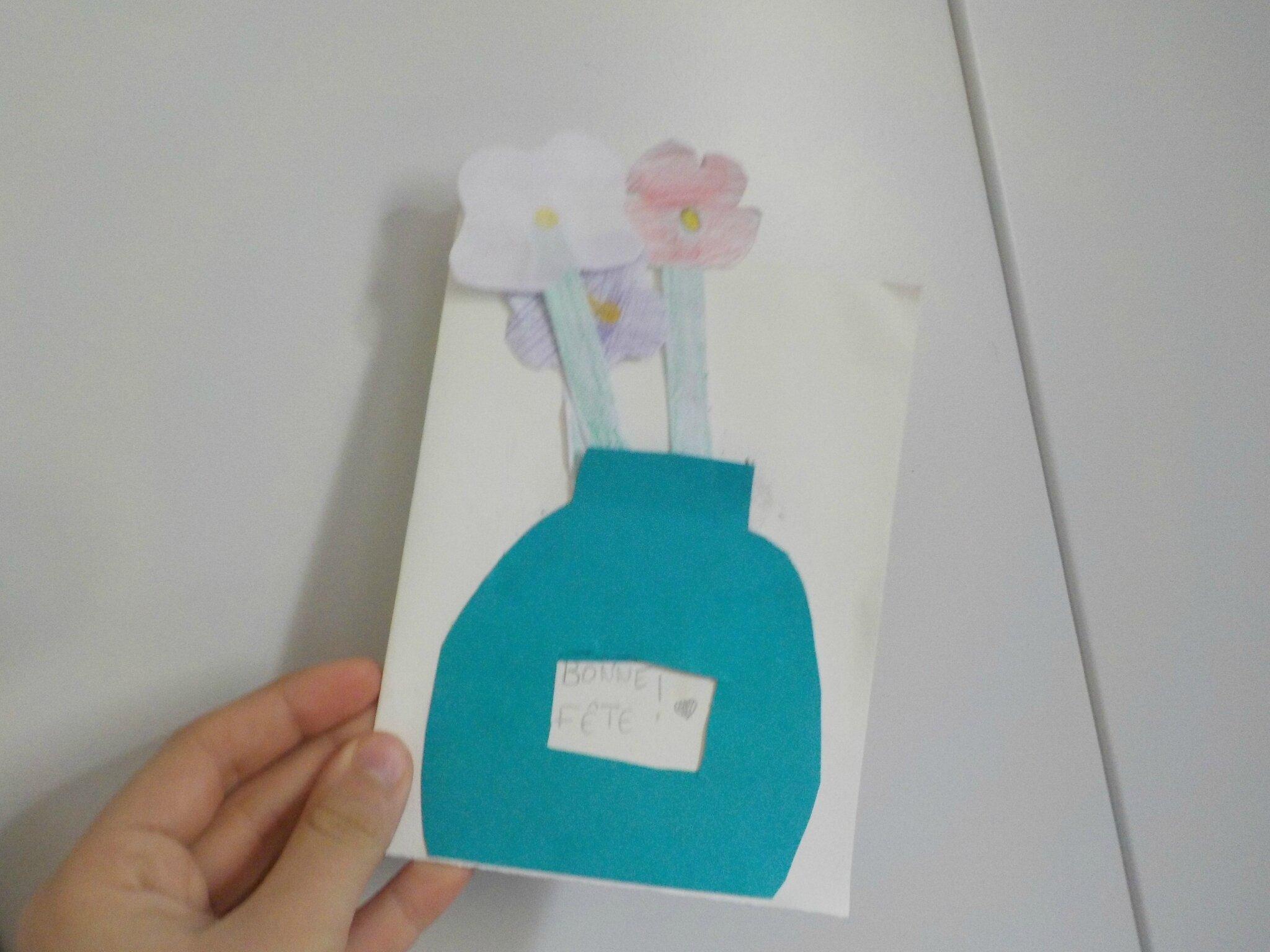 D.I.Y: la carte fleurs pour la fête des grands-mères