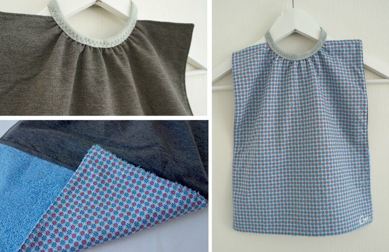 serviette élastique motifs bleus