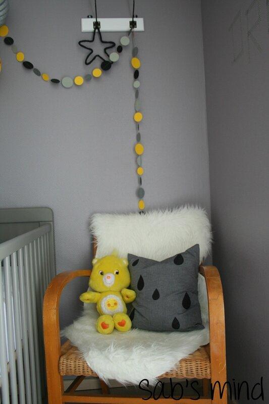 Un pour d corer sa chambre homemade sab 39 s mind for Chambre garcon jaune et grise