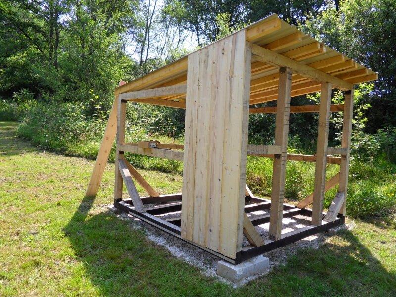 Pose des planches de bardage - Photo de L\'abri de jardin ...