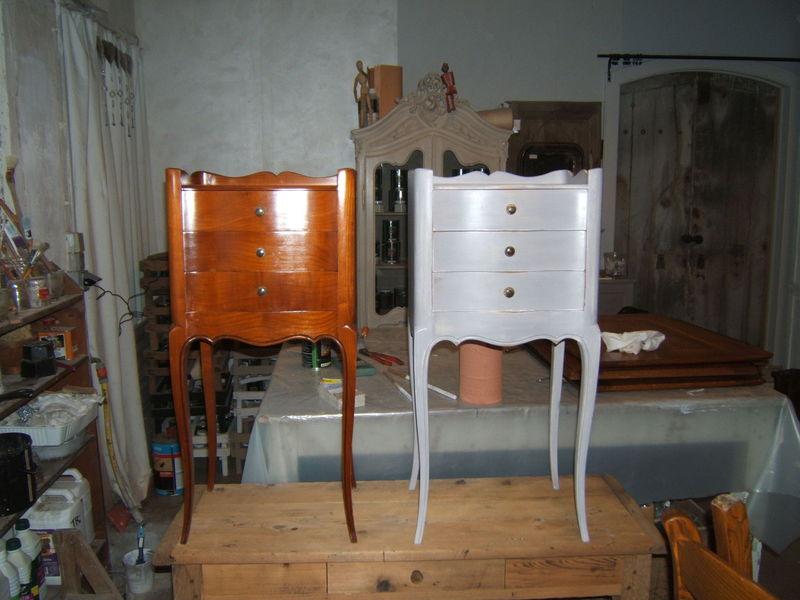 table de chevet l 39 atelier de patine. Black Bedroom Furniture Sets. Home Design Ideas