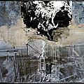 Kiefer 1988_melancholia(Cendres sur photos sur plomb dans un cadre vitré acier)