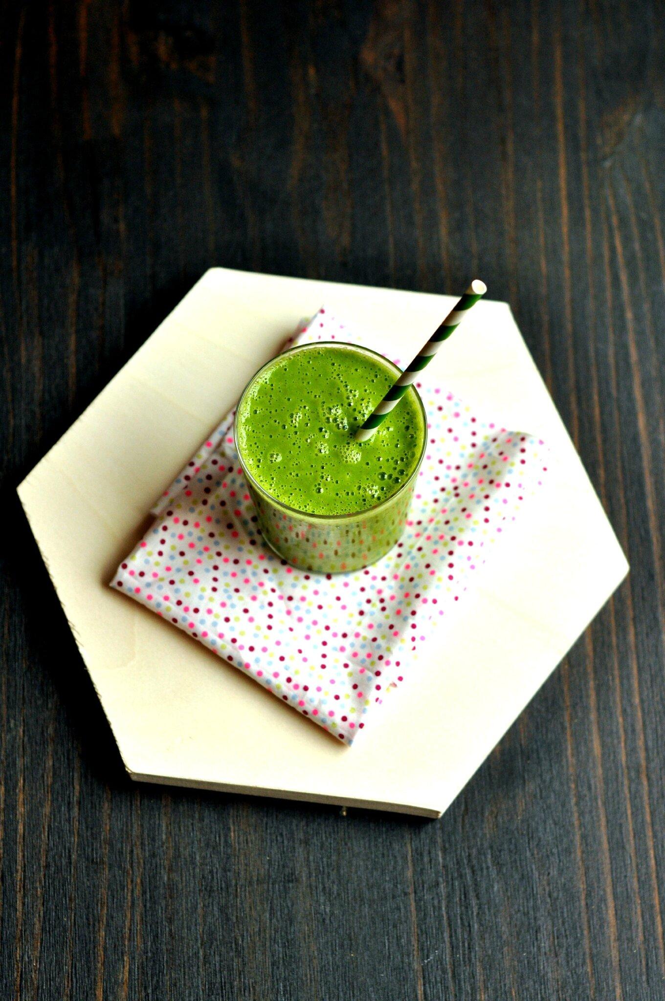 Green smoothie pour bien commencer la journée