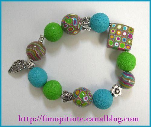 bracelet clay gun bleu