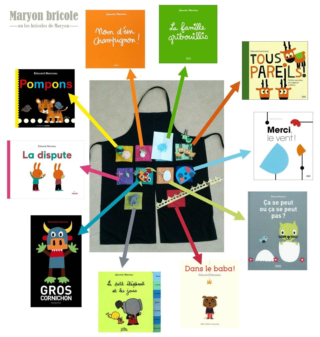 Favori Un tablier à histoires et des albums d'Edouard Manceau - Maryon  IC24